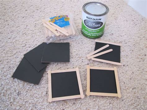 chalkboard paint on cardboard i made these mini chalkboards using cardboard chalkboard
