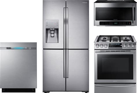 samsung 4 piece kitchen package with nx58h9500ws gas range