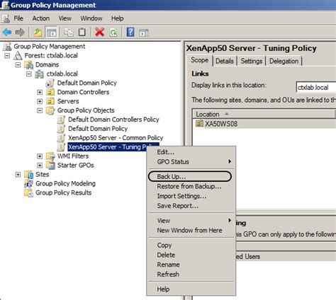 How To Backup And Restore Group Policy Xenappblog Backup And Restore Policy Template