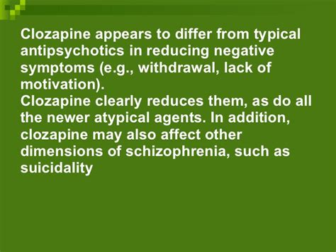 Clozapine Detox by Clinical Review Of Antipsychotics
