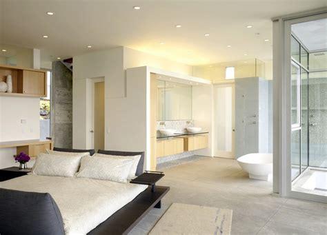 incredible open bathroom concept  master bedroom
