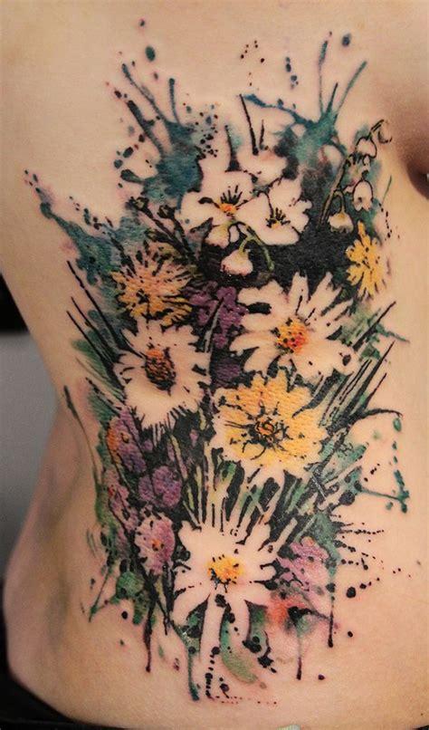 no line tattoos 15 no line flower tattoos you must pretty designs