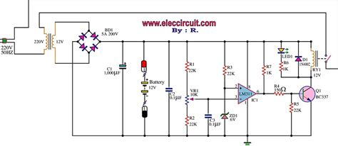 Charger Aki 12v 20a fully automatic battery charger circuit using lm311