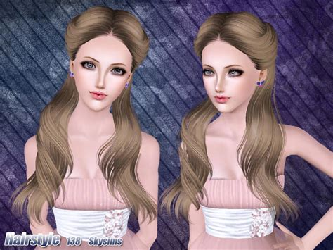 hair 217 by skysims sims 3 downloads cc caboodle skysims hair adult 138