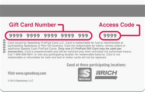 Gift Cards Numbers - earn points speedy rewards speedway