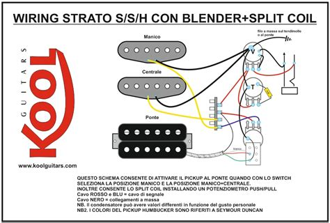 koolguitars wiring per chitarra elettrica strato