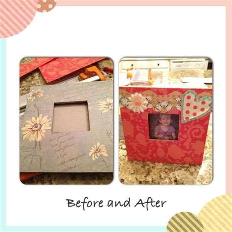 tutorial scrapbook frame old picture frame covered in scrapbook paper and mod podge