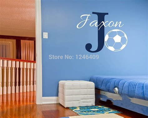 custom made wall stickers custom made personalized name baby nursery football wall sticker room wall decal decor