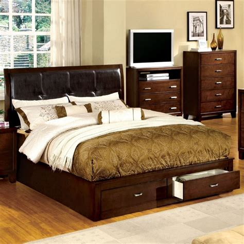 Furniture Of America California by Furniture Of America Errington Storage California King Bed