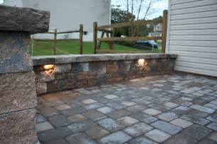 Patio Paver Lights Integral Led Lights Douglassville Paver Patio From Willow Gates Landscaping Pavers In Mohnton