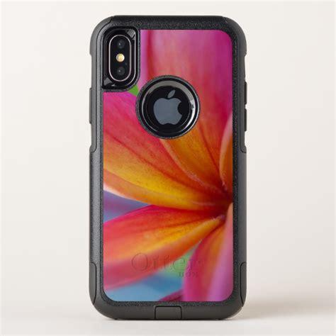 yellow orange deep pink tropical plumeria flower otterbox commuter iphone  case case