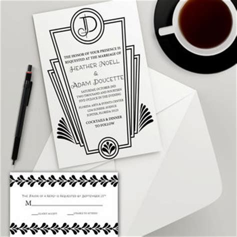 roaring twenties invitation template shop deco invitations on wanelo