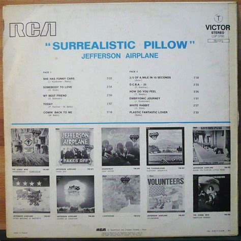 Jefferson Airplane Surrealistic Pillow by Jefferson Airplane Surrealistic Pillow Lp For Sale On