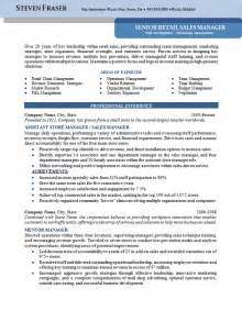 Resume For Store Manager by Store Manager Resume Exle