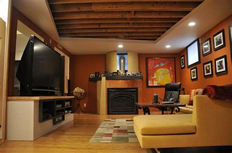 Basement Finishing Ideas Low Ceiling Basement Ideas On A Budget Smalltowndjs