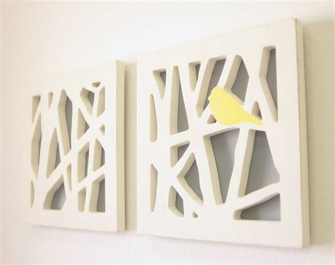 gray wall decor yellow bird wall art set yellow and gray wall by