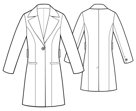 technical drawing free raincoat from fabric sewing pattern 5439 made to