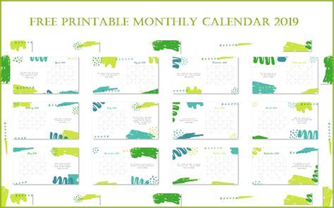 printable monthly calendar calendar