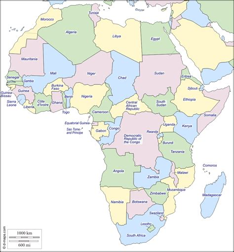 d maps africa africa free map free blank map free outline map free