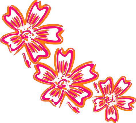 Undangan Flower 04 free vector graphic flowers orange pink design free