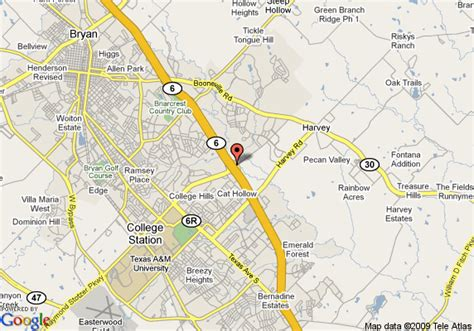 where is bryan texas on the map map of hton inn suites college station us 6 east bypass tx bryan