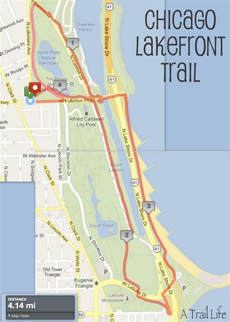 map of chicago lakefront chicago bike trails