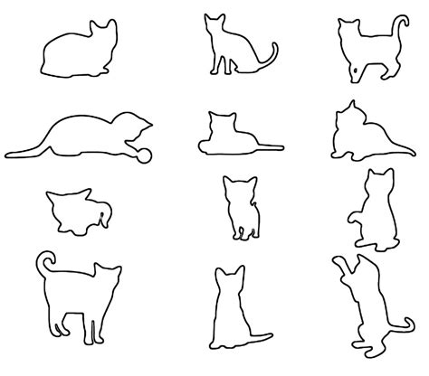 pattern cat drawing free saw patterns cats