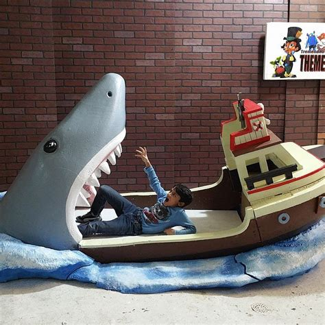 Jaws Shark Attack Bed For Big Kid Nightmares Cnet Size Boat Bed