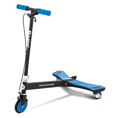 razor and razor 174 20036003 powerwing caster scooter blue