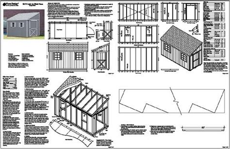 guide free lean to shed design nosote 6 x12 slant lean to style shed plans see sles ebay