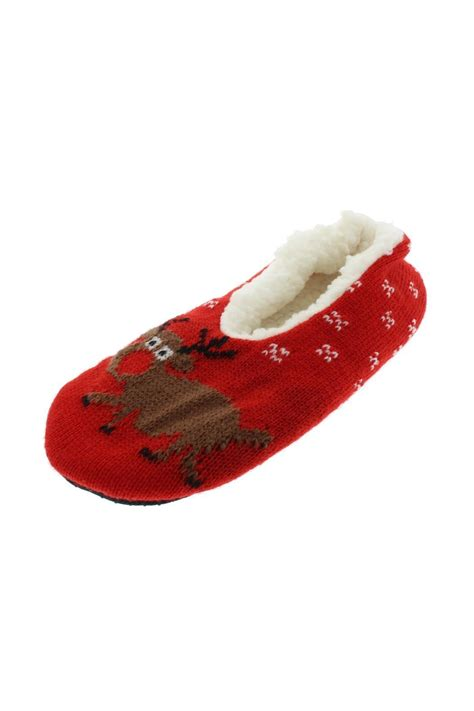 sherpa slippers gold medal international reindeer sherpa lined slippers