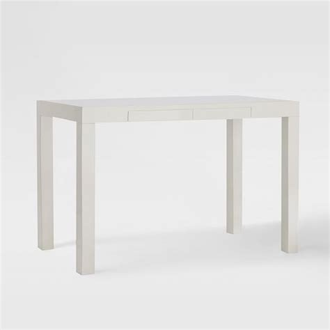 Parsons Desk White West Elm Parsons Desk With Drawers White