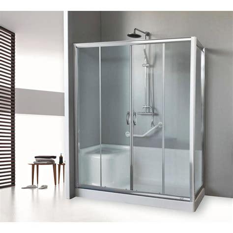 box doccia con vasca box doccia sostituzione vasca 2 ante scorrevoli in vetro
