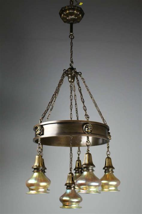 arts crafts lighting fixtures arts and crafts ring fixture for sale at 1stdibs