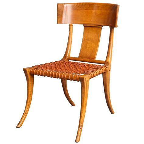 klismos chairs t h robsjohn gibbings walnut klismos chair circa 1965 at