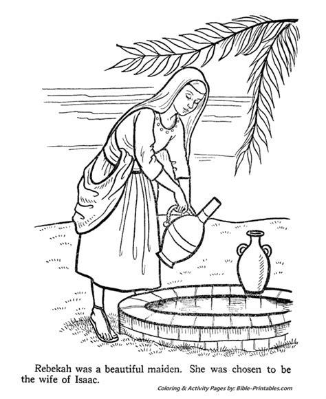 rebekah old testament coloring pages bible printables
