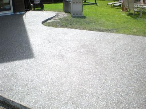 concrete finishes for patios goodstone calgary s concrete contractors