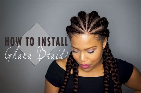 natural hair style in ghana how to install ghana cornrows invisible cornrows on
