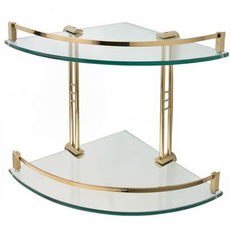 Bathroom Glass Corner Shelves Engel Tempered Glass Corner Shelf Two Shelves Bathroom