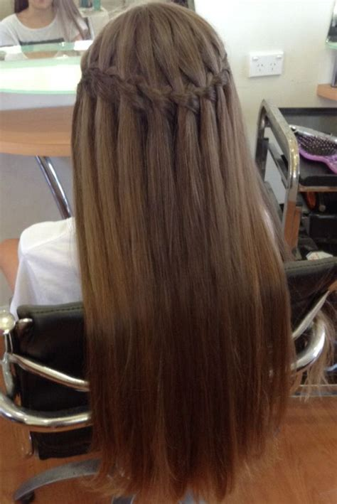 dance hairstyles for long straight hair 15 best waterfall braid hairstyles with pictures styles