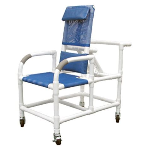Reclining Shower Commode Chair by 20 Quot Pvc Reclining Shower Commode Chair Mesh Sling Seat