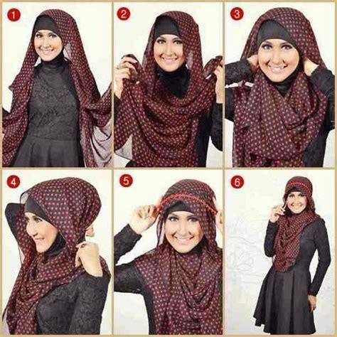 tutorial berhijab kerudung pashmina 8 cara memakai jilbab pashmina wajah bulat 2017