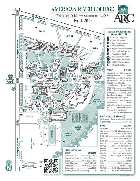 cosumnes river college map arc cus map