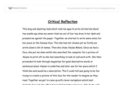Critical Reflection Essay Exle by Critical Reflection Essay Template Drugerreport732 Web Fc2