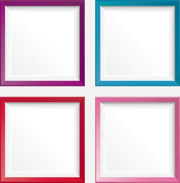 colorful photo frame border design free vector download