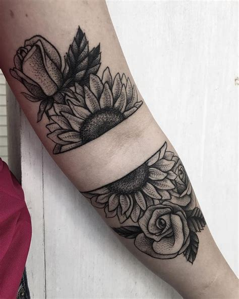sunflower and rose tattoo sunflower meaning and designs 2018