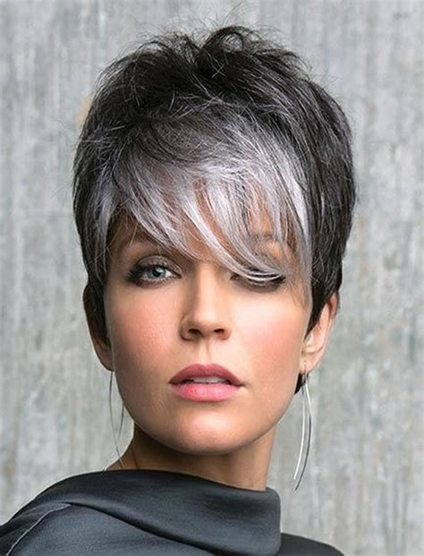 The 32 Coolest Gray Hairstyles For Every Lenght And Age | 20 best ideas of grey pixie haircuts