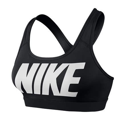 nike pro bra black logo womens clothing