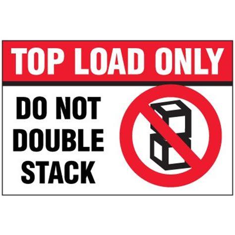 top load only package handling label   seton   seton