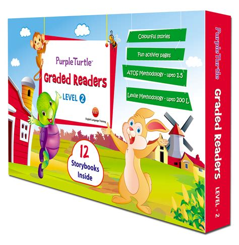 Graded Readers Lv 2 blooming with books purple turtle graded readers level 2 review with giveaway and trailer
